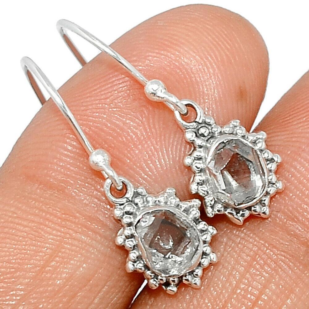 Херкимер (Херкаймерийский) алмаз срібні сережки, 657СРХ