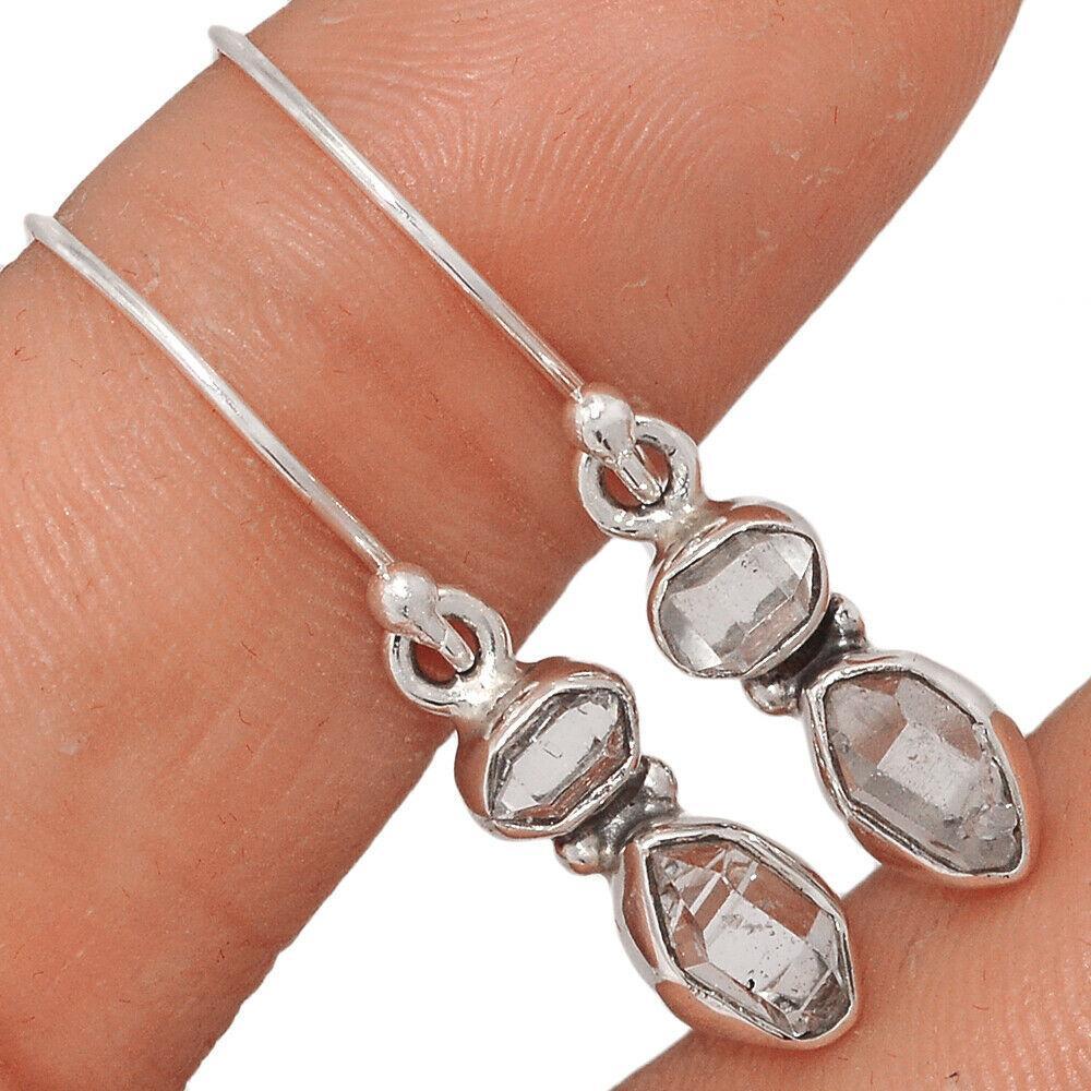 Херкимер (Херкаймерийский) алмаз серебряные серьги, 658СРХ
