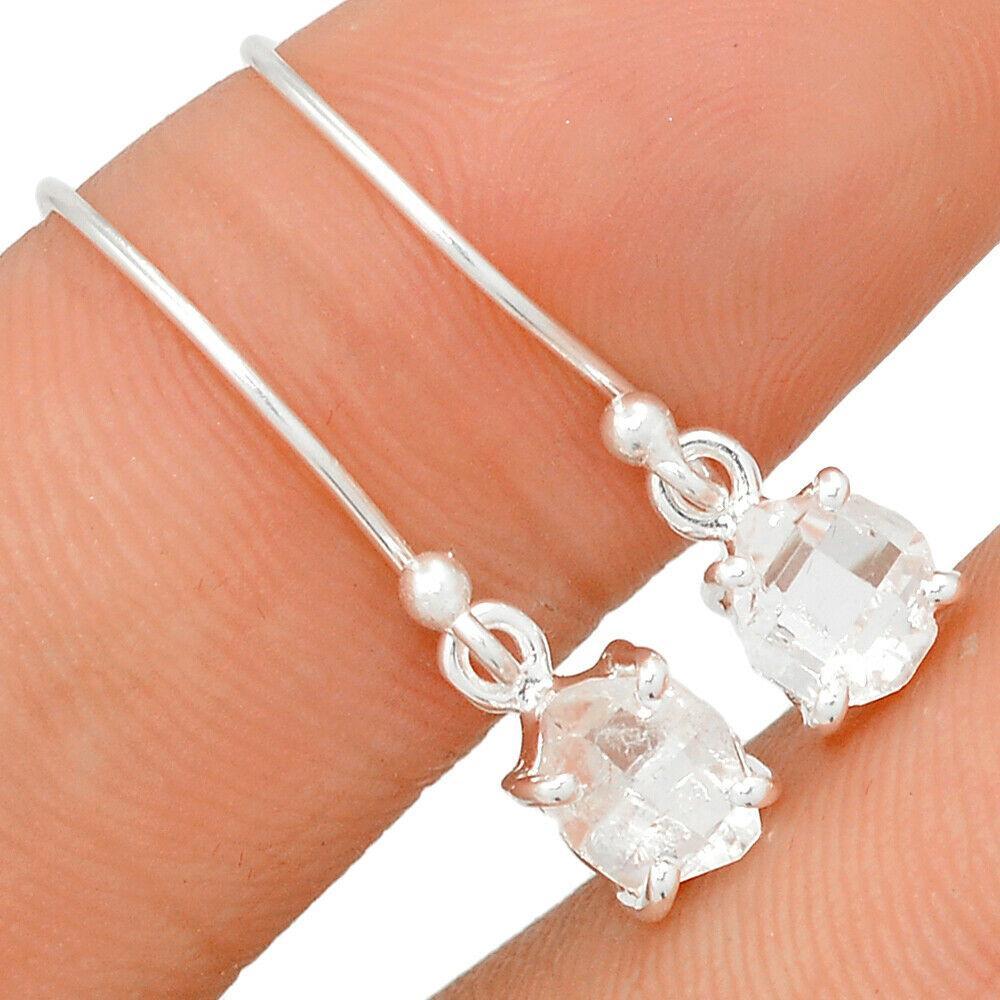 Херкимерский (Херкаймерийский) алмаз срібні сережки, 652СРХ