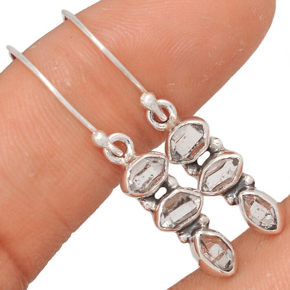 Херкимерский (Херкаймерийский) алмаз серебряные серьги, 656СРХ