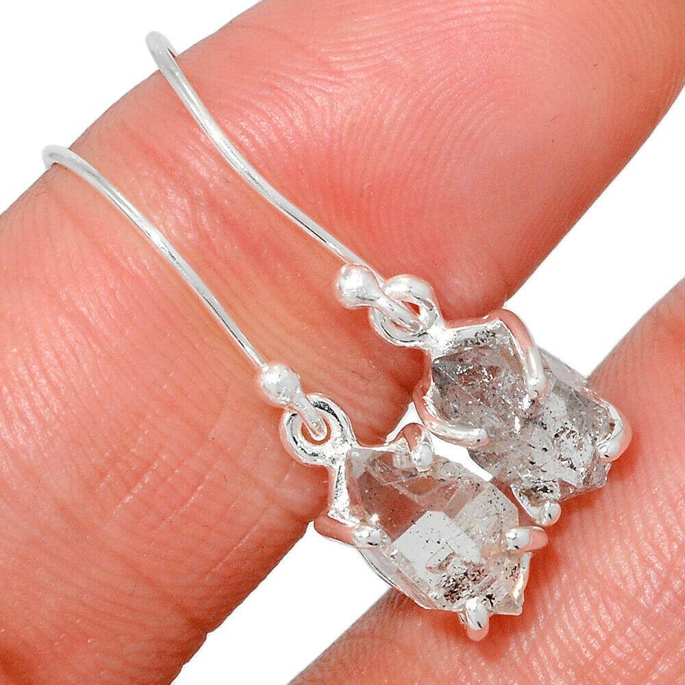 Херкимер (Херкаймерийский) алмаз срібні сережки, 650СРХ