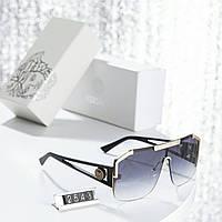 Очки женские солнцезащитные Versace мега стильная и модная маска !!!!с защитой от солнца класса 400UV