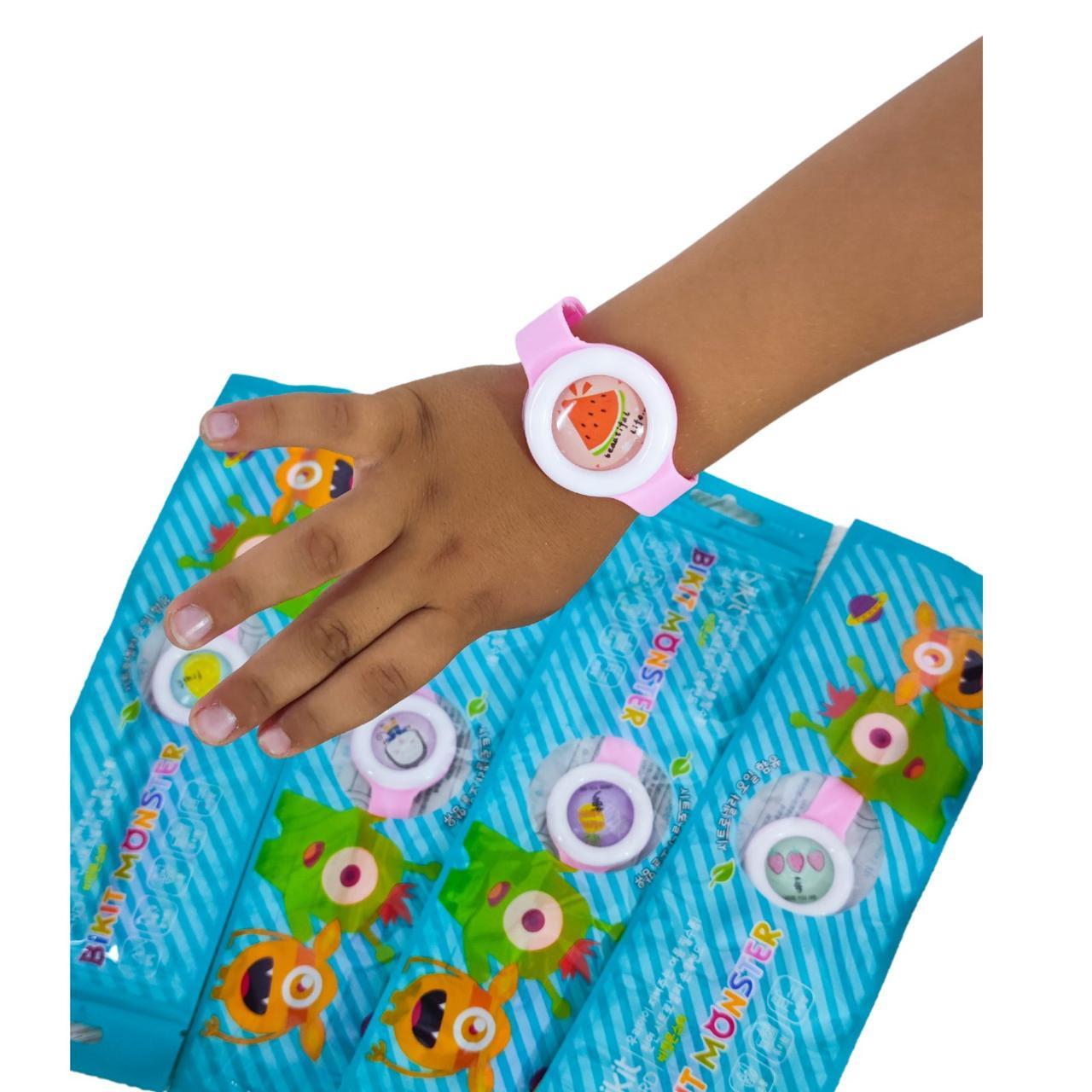 Детский антимоскитный силиконовый браслет Монстрик