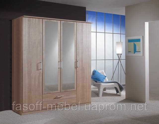 Шкаф 4х дверный с ящиками