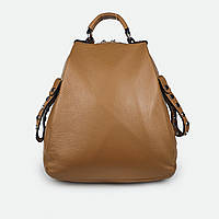 Рюкзак жіночий з натуральної шкіри світло-коричневий H811, фото 1