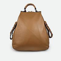 Рюкзак женский из натуральной кожи светло-коричневый H811