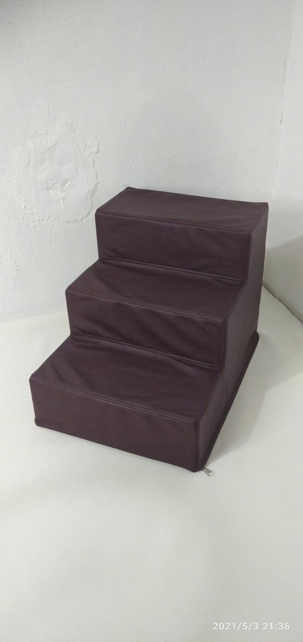 Лесенка для собак Экокожа цвет Фиолетовы ,лесенки и ступеньки для собак, ступеньки, лесенки