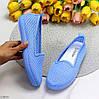 Удобные повседневные мягкие тканевые синие голубые женские балетки мокасины