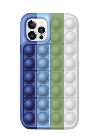 NUC Чехол антистресс Поп-Ит NUC Pop It Blue Green White для iPhone 11 (U2145)