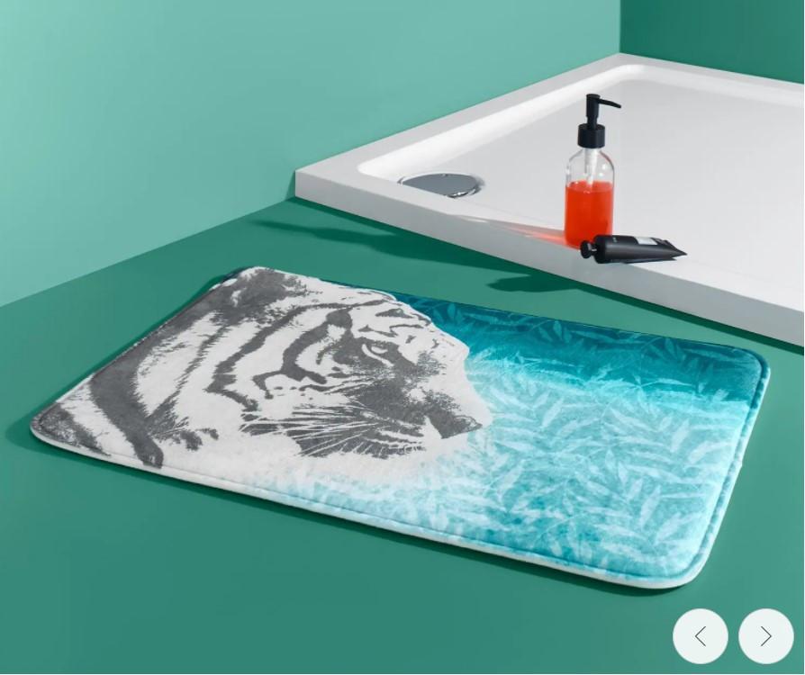 Качественный мягкий антискользящий коврик в ванную от tcm Tchibo (чибо), Германия