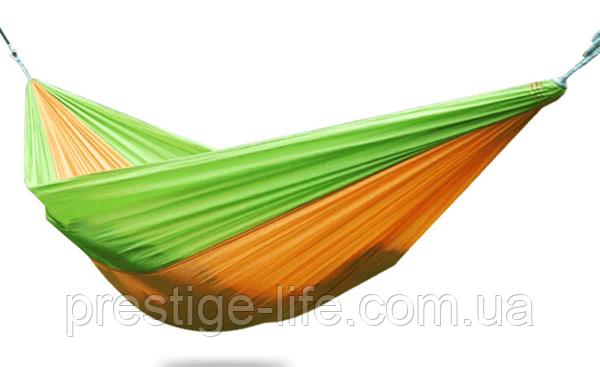 Гамак туристичний підвісний з карабіном Hammock Net 140см/280см (Жовто-зелений)