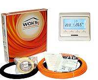 Тонкий кабель під плитку Woks-10, 150 Вт (16м) 1,0-1,9 м2 з програмованим терморегулятором Е51