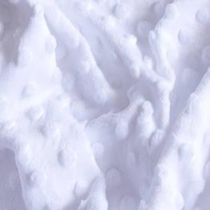 Плюшевая ткань Minky белый плотность 280 г/м.кв Отрез(0,6*1,45м)