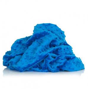Плюшевая ткань Minky синий (плот. 380 г/м.кв) Отрез(0,65*1,6м)
