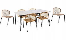 Садові меблі, набір з 6 стільців LANZAROTE 01918