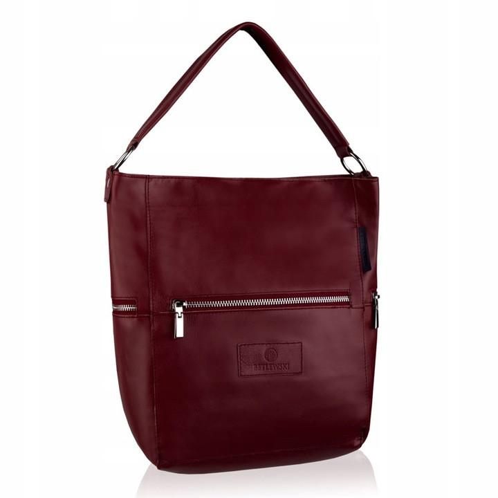 Жіноча шкіряна сумочка Betlewski 31 х 27 х 15 (TWB-LIC-16) - червона
