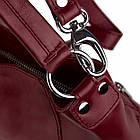 Жіноча шкіряна сумочка Betlewski 31 х 27 х 15 (TWB-LIC-16) - червона, фото 5