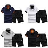 PLAYBOY original хлопок летний комплект шорты + футболка поло плейбой, фото 2