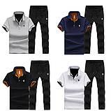 PLAYBOY original бавовна річний комплект футболка поло + штани плейбой, фото 2