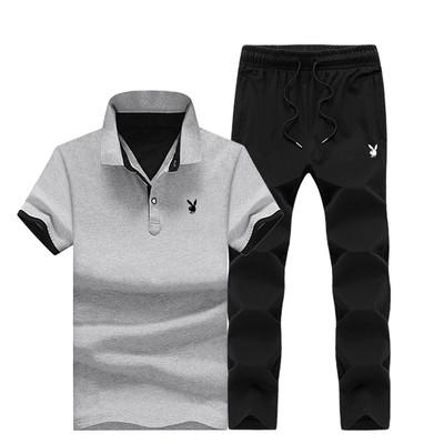 PLAYBOY original бавовна річний комплект футболка поло + штани плейбой