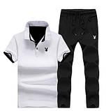 PLAYBOY original бавовна річний комплект футболка поло + штани плейбой, фото 5
