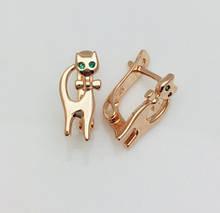 Серьги детские позолота, мед золото, 82202753-15 H-14 мм B-7 мм ювелирная бижутерия Fallon Jewelry