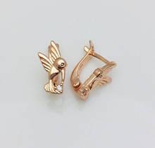 Серьги детские позолота, мед золото, 82202755-01 H-13 мм B-7 мм ювелирная бижутерия Fallon Jewelry