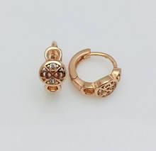 Серьги детские позолота, мед золото, 82202771-01 H-11 мм B-5 мм ювелирная бижутерия Fallon Jewelry