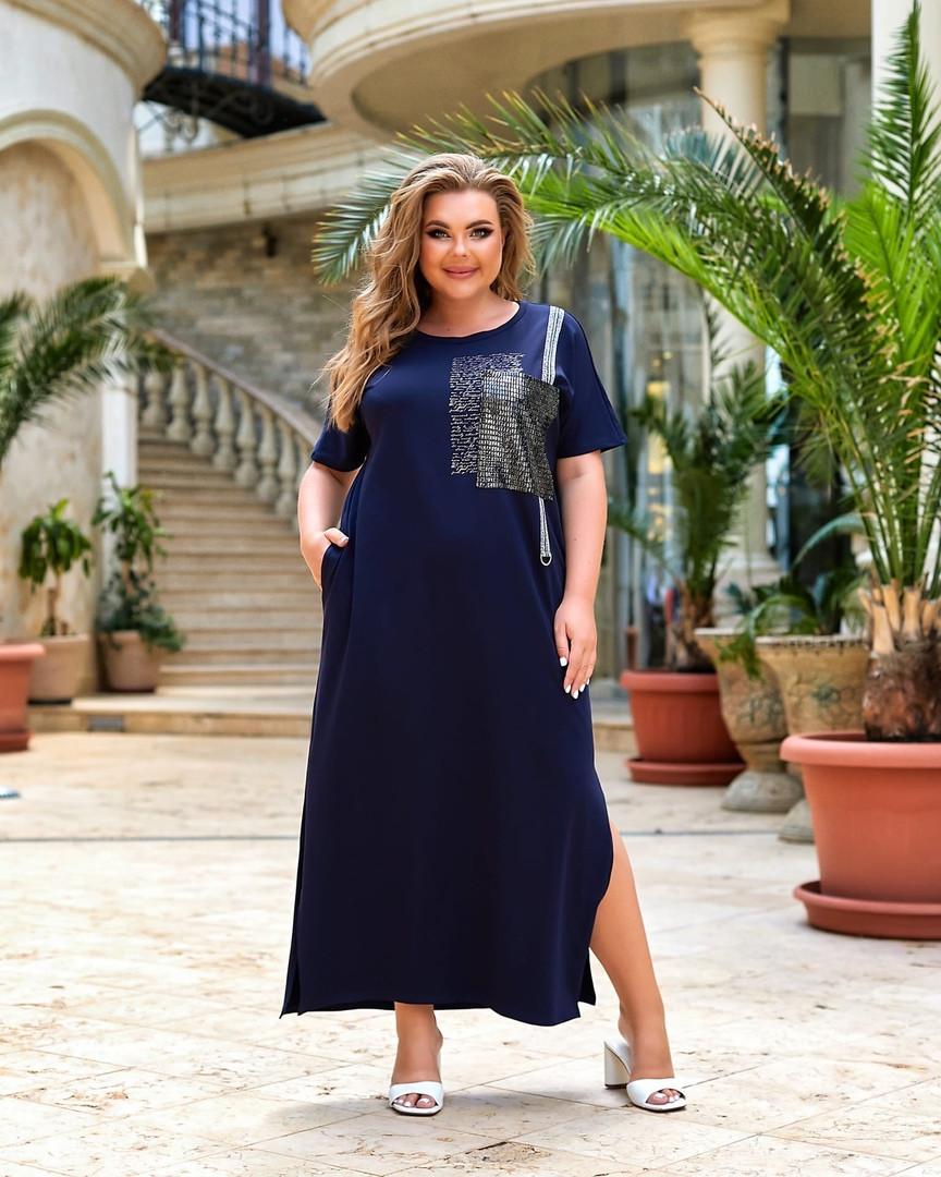 Жіноче плаття великого розміру.Розміри:52/66+Кольору