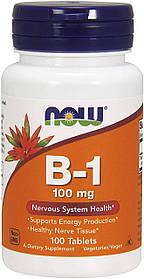 Вітамін В1 (Тіамін), Now Foods Vitamin B1 100 мг (100tab)