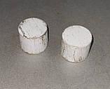 Карниз для штор металевий ЗАГЛУШКА подвійний 19+19мм 3.0 м Біле золото, фото 2