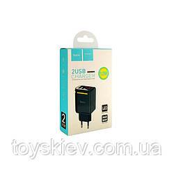 СЗУ HOCO C39A 2USB 2.4A с LED (60 шт/ящ)