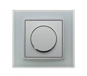 Светорегулятор поворотнонажимной 600 Вт Berker B.7 полярная белизна/стекло, фото 2