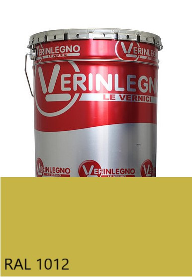 Краска полиуретановая для мебели Verinlegno Италия, Цвет  RAL 1012, двухкомпонентная