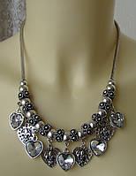Ожерелье женское колье модное металл ювелирная бижутерия 4816