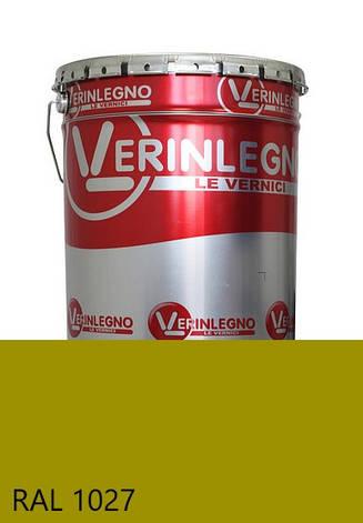 Фарба поліуретанова для меблів Verinlegno Італія, Колір RAL 1027, двокомпонентна, фото 2
