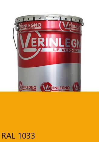 Краска полиуретановая для мебели Verinlegno Италия, Цвет  RAL 1033, двухкомпонентная, фото 2