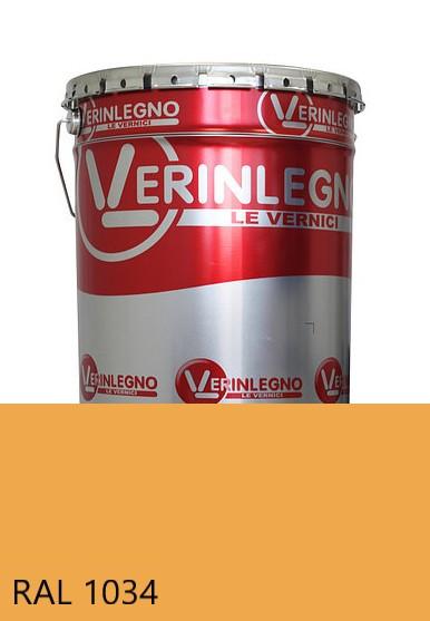 Фарба поліуретанова для меблів Verinlegno Італія, Колір RAL 1034, двокомпонентна
