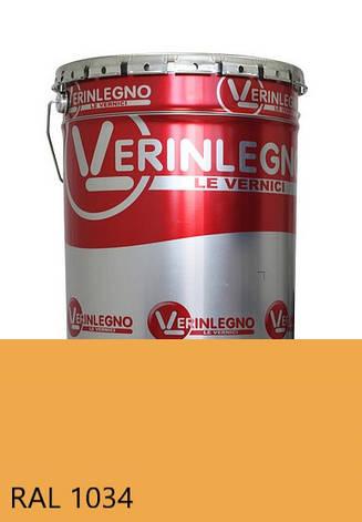 Фарба поліуретанова для меблів Verinlegno Італія, Колір RAL 1034, двокомпонентна, фото 2