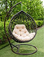 Подвесное кресло-кокон АртВуд со стойкой, до 120кг (170 кг), 105*73*122 см, цвет на выбор + Гарантия