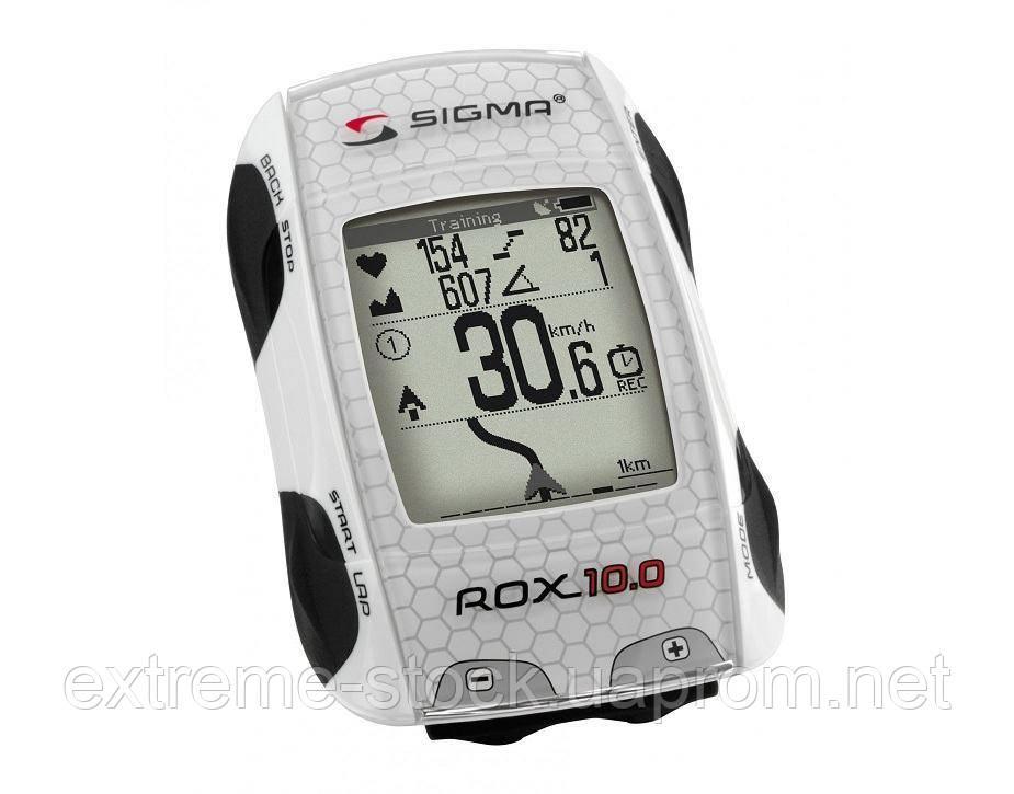 Велокомпьютер/пульсометр Sigma ROX 10.0 GPS SET, белый