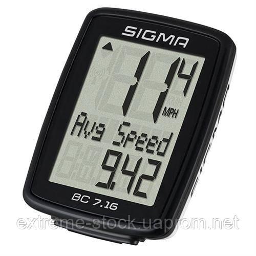 Велокомпьютер Sigma Sport BC 7.16 black, проводной