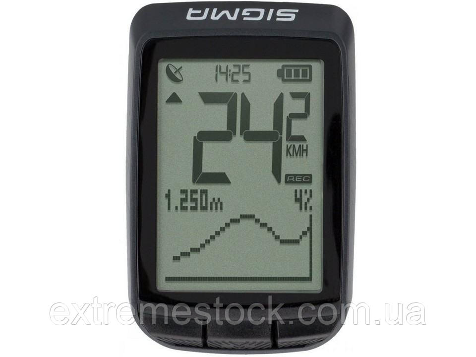 Велокомп'ютер Sigma Pure GPS, чорний