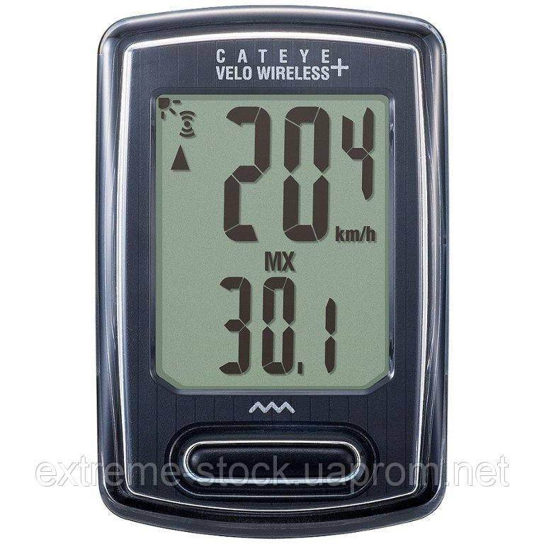 Велокомп'ютер Cateye Velo Wireless+ CC-VT235W, чорно-сірий, безпровідний