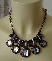 Ожерелье женское колье модное металл ювелирная бижутерия 4818