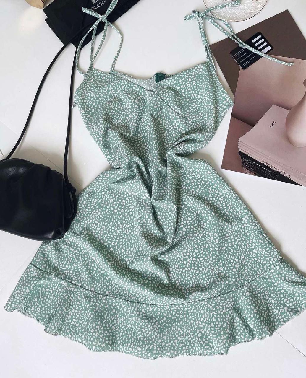 Женское платье, супер-софт, р-р 42-44; 44-46 (зеленый)