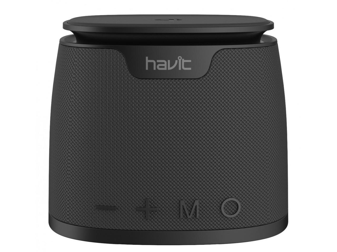 "Bluetooth колонка + беспроводная зарядка HAVIT HV-M1 ""5w"" Bluetooth4.2 AUX MicroCd черная 25249"