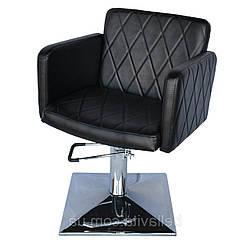 Парикмахерское кресло для салонов красоты Валентио Люкс (Valentio Lux) кресла для парикмахерских Квадрат опуклый, Гидравлика
