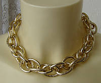 Ожерелье женское колье модное металл цепь ювелирная бижутерия 4822