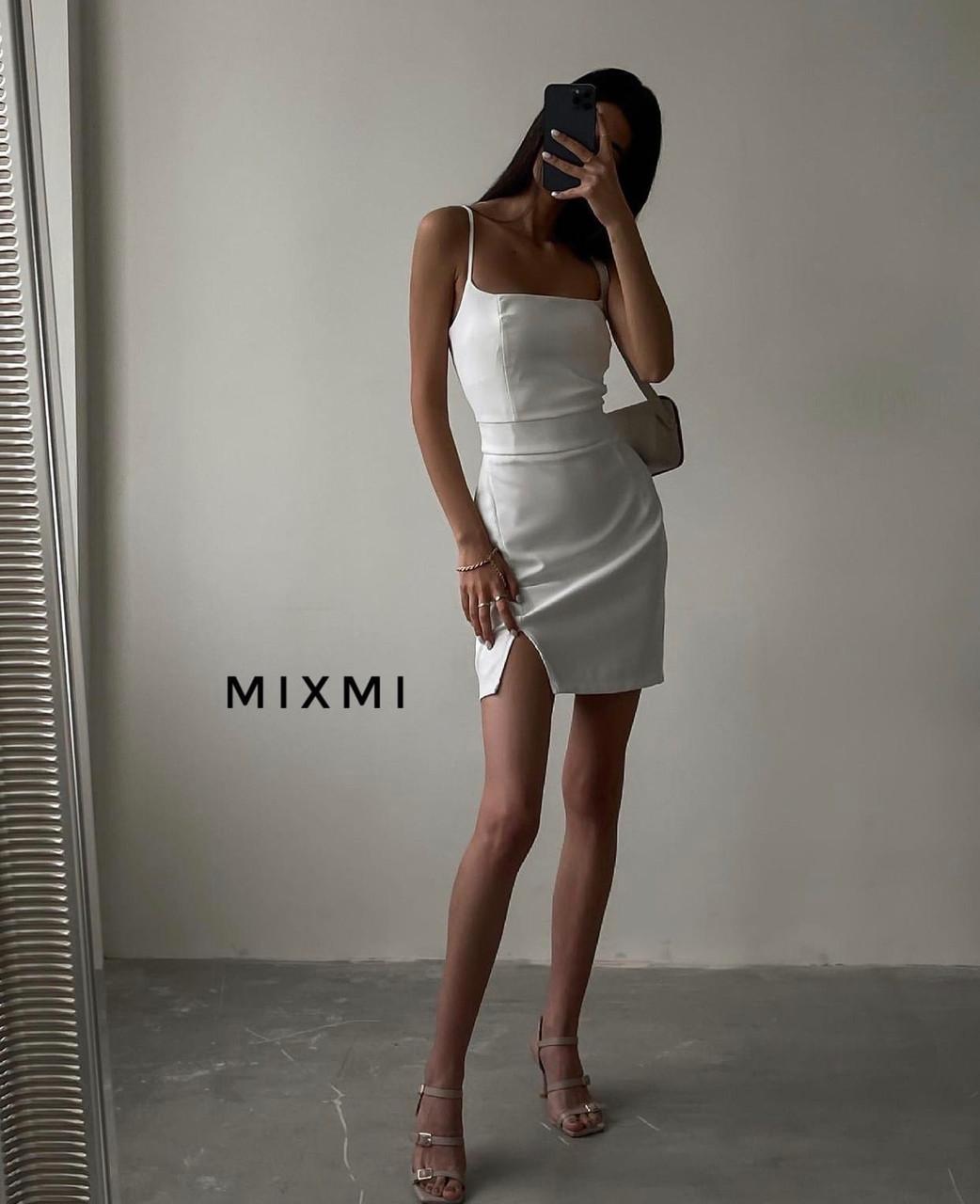 Женское платье, софт, р-р 42-44; 44-46 (белый)